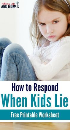 Learn how to deal with a lying child. This parenting advice will help your kid tell the truth while still keeping your boundaries and consequences. Simple, easy, and peaceful! Includes a free printable worksheet, too.
