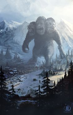 For  increase split vision see the Troll Wizard at the Snowy Mountains.Three heads are better than one in the Troll Race.Troll by *ourlak