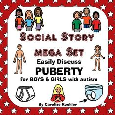 Social Story BUNDLE for BOYS AND GIRLS in Puberty.