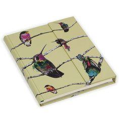 Large hummingbird ruled magnetic journal
