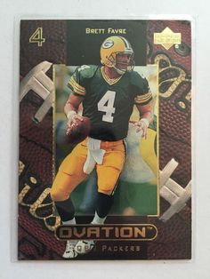 1999 Upper Deck Ovation - Brett Favre - Green Bay Packers -  21 Football  Cards f1b606d5e