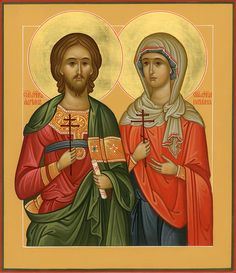 The Holy Martyrs Adrian and Natalia (husband & wife).