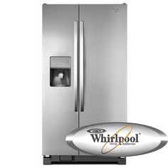 Whirlpool Refrigerator 25.4 cu. ft. LED Side-by-Side Energy Star Refrigerator with External Ice and Water WRS325FDAM