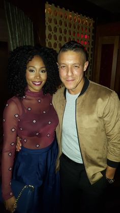 Theo Rossi and Simone Missick, at the Ginny Supper Club. Promoting Luke Cage. NETFLIX