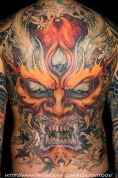 Japanese Hannya Mask Tattoos