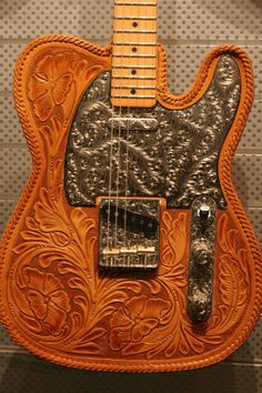 Leather-bound Telecaster. Guitar by the Custom Shop's Senior Master Builder Chris Fleming. Leather work by Bill Silverman of El Dorado Accessories.