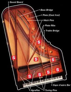 Grand Piano - Top View