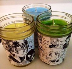 SAILOR MOON CANDLES by KittensnCrystals on Etsy