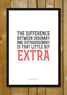 Buy Framed Posters Online Shopping India | Be ExtraOrdinary Glass Framed Poster | PosterGully