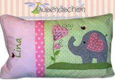 Kissen Kuschelkissen Namenskissen Elefant