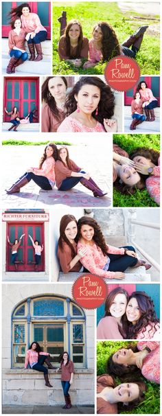 best friends,  senior portraits, BFF austinwww.pamrowellphotography.com (C) Pam Rowell Photography, Central Texas