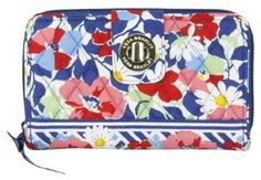 VERA BRADLEY Summer Cottage Turn Lock Wallet $38.99 SHIPPED FREE~~~ALSO FREE LOCAL DELIVERY NOW AVAILABLE WITHIN 10 MILES OF SANTA MONICA, CALIFORNIA ZIP CODE 90404~~~