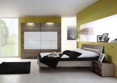 Schlafzimmer komplett Sanary Montana Weiss 7281. Buy now at https://www.moebel-wohnbar.de/schlafzimmer-komplett-sanary-montana-eiche-mit-weissglas-hochglanz-7281.html