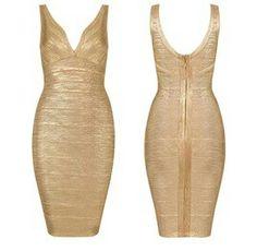 Goude jurk met ritssluiting €99,-