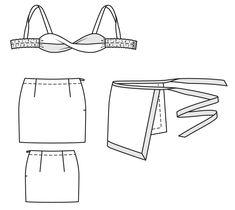 Верхняя часть бикини и юбка