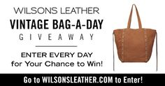 Wilsons Leather Vintage Bag-a-Day Giveaway - 6 winners {US}... sweepstakes IFTTT reddit giveaways freebies contests