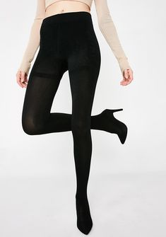 20d4464ec13a6 Boss Lady Legging Heels cuz you run the show. These black legging heels  have a