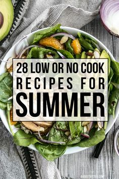 Need to feed the family, but don't want to heat up the kitchen? Here are 28 of my favorite delicious, low or no cook recipes for summer. Appetizer Recipes, Salad Recipes, Dinner Recipes, Appetizers, Cooking On A Budget, Budget Meals, Budget Recipes, Healthy Food Blogs, Healthy Recipes