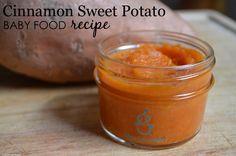 Cinnamon Sweet Potato Baby Food Recipe from @Sage Spoonfuls - #babyfood #recipe