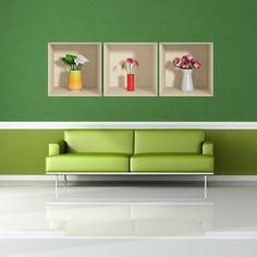 Sada 3 samolepek s efektem Fanastick Flowers Number 3, Floating Shelves, 3d, Flowers, Home Decor, Decoration Home, Room Decor, Wall Storage Shelves, Florals