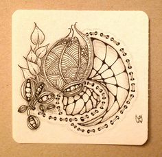 Amazing zendoodle from Zendoodle-way.  Love the 'stitching' =)