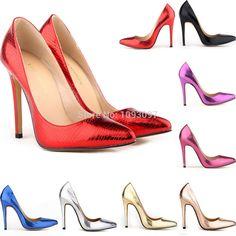 Cheap 9 colores del patrón del cocodrilo mujeres bombas botas Sexy botas de zapatos de fiesta punta estrecha mujeres PU zapatos de cuero barato de los altos talones, Compro Calidad Bombas directamente de los surtidores de China:            Se inclina altura:                     11 cm/4.3in
