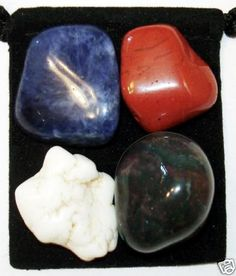 ANXIETY TAMER Tumbled Crystal Healing Set  4 by TheMagicIsInYou, $4.99