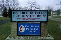 Sarcasm Because Beating the Hell Out of People is Illegal: Funny Church Signs
