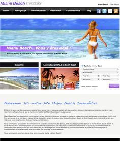 Website design for Miami Beach Immobilier by Ciao Bella Marketing
