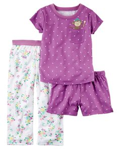 ?3-Piece Jersey PJs from Carters.com. Shop clothing & accessories from a trusted name in kids, toddlers, and baby clothes.