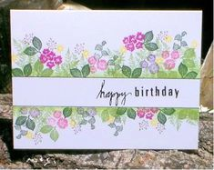 One Layer Floral Card by the Frugal Crafter, Lindsay Weirich Homemade Greeting Cards, Homemade Cards, Cardio Cards, The Frugal Crafter, Art Impressions Stamps, Card Making Techniques, Watercolor Cards, Watercolor Flowers, Handmade Birthday Cards