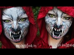 ▶ Red Riding Hood/Wolf Makeup Tutorial (Madeyewlook) - YouTube