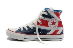 2012 London Olympic Converse Shoes British Flag Red High Tops 6be9ad7084