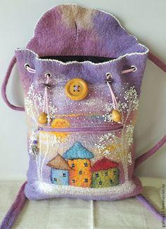 Wunderbare aufwendig gestaltete Filztasche