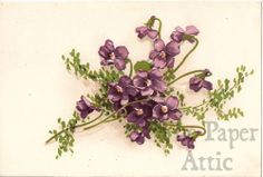 violets Vintage Images, French Vintage, Simple Compass Tattoo, Violet Tattoo, Catherine Klein, Decopage, New Tattoos, Tatoos, Body Mods