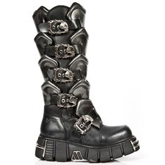M-738-S1-NEWROCK-EXTREME-BLACK-LEATHER-KNEE-HIGH-BOOTS-WITH-ARMOUR-EFFECT-DETAIL