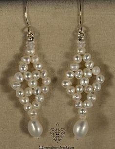 Antique pearl earrings E883 by Fleur-de-Irk.deviantart.com