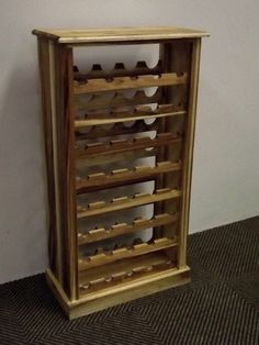 Wooden Wine Rack Solid Wood Racks In The Standard Upright 27 40 60 Bottle Or