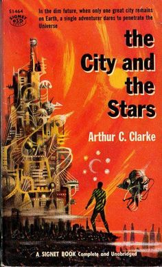 Adventures in Science Fiction Cover Art: The Surrealist Cityscapes of Richard Powers - - Adventures in Science Fiction Cover Art: The Surrealist Cityscapes of Richard Powers Livros Cover für die Ausgabe von The City and the Stars Arthur C. Science Fiction Books, Pulp Fiction, Fiction Novels, Book Cover Art, Book Covers, Book Art, Lois Mcmaster Bujold, Classic Sci Fi Books, Richard Powers
