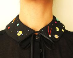 Hand embroidered 'Cosmos' Peter Pan Collar by İrem Yazıcı