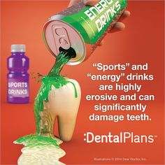 Don't let energy drinks ruin your beautiful smile! #dentistry