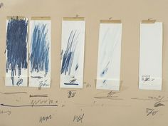 Cy Twombly, Untitled, 1970, Crayon, graphite pencil, colored pencil, ink, tape, and cut, torn, and folded paper on colored paper. The Menil Collection, Houston; Gift of the artist. Photography by Paul Hester ©Cy Twombly Foundation