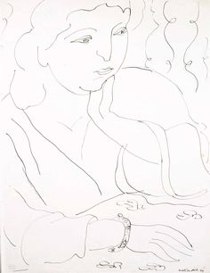 Henri Matisse,French, (1869-1954) 'Femme', 1944 pen and ink on paper (20 x 16 inches at Art Toronto 2015  at Mayberry Fine Art Booth A49