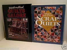 LOT Quick and Easy Scrap Quilts Quilt Methods Quilting Galore Patterns TWO BOOKS