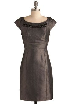 Modcloth Just for Starters Dress  Having slipped into this fully lined frock, zipped it in back, and paired it with black netted stockings and round-toe, bejeweled heels, you're now fully prepared to enjoy a few delectable appetizers with your friends!