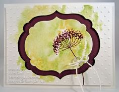 summer silhouettes watercolor greeting card