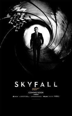 latest #JamesBond #Skyfall movie poster with #DanielCraig