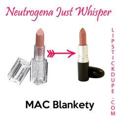 Neutrogena Just Whisper dupe for MAC Blankety