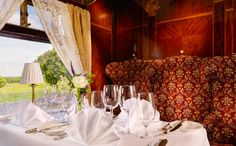 Open log-fires and a warm welcome await you at Glenlo Abbey Hotel. This luxury, five-star hotel is nestled on a stunning estate overlooking Lough Corrib near Galway City Log Fires, Five Star Hotel, Blue Books, Sit Back, Acre, Ireland, Scenery, Dining, Paisajes