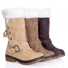Womens Winter Snow Boots Fur Warm Insulated Waterproof Lace Up Ski Shoes Size - Casual Winter Boots - Ideas of Casual Winter Boots - Womens Winter Snow Boots Fur Warm Insulated Waterproof Lace Up Ski Shoes Size Price : Casual Winter Boots, Warm Snow Boots, Snow Boots Women, Winter Shoes, Ankle Boots, Mid Calf Boots, Shoe Boots, Ugg Boots, Flat Boots